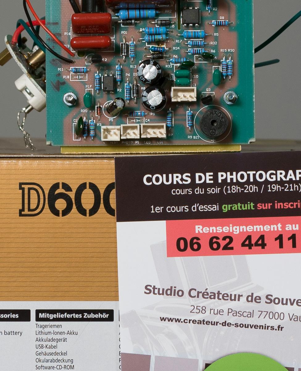 Nikon 2.8/55 Micro AF monté sur Nikon d600